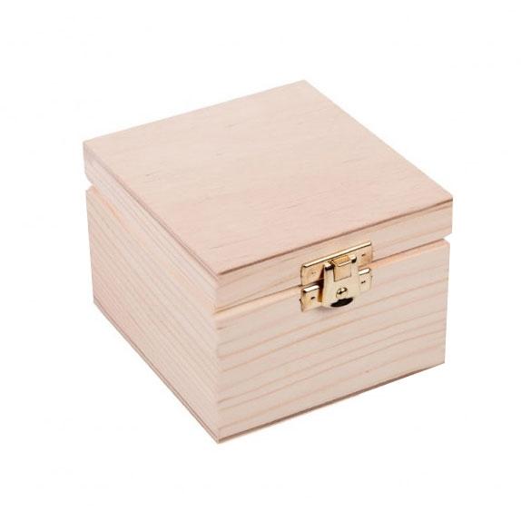 Drevená krabička 10 x 10 x 7 cm