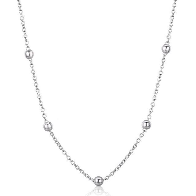 Strieborný náhrdelník s drobnými guličkami