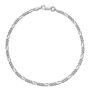 Stříbrný náramek figaro, délka 18 cm
