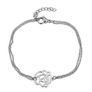 OPA1613 Dvojitý ocelový náramek s růží