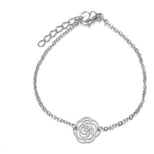 OPA1616 Dámský ocelový náramek s růží