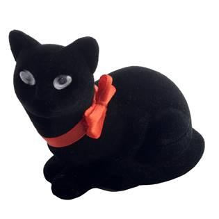 KR0112 Dárková krabička semiš - kočka