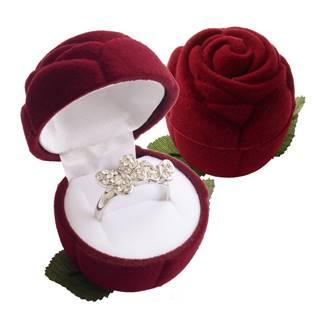 Šperky4U Dárková krabička semiš - růže bordó - KR0037-BD