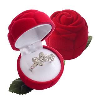 Šperky4U Dárková krabička semiš - růže červená - KR0037-RD