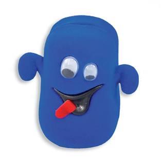 Semišová dárková krabička - strašidýko modré