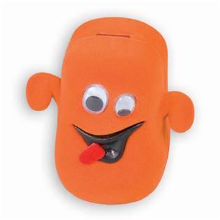 Semišová dárková krabička - strašidýko oranžové