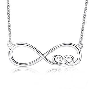 AL0054 Stříbrný náhrdelník kenonečno