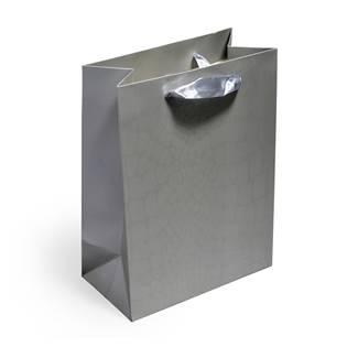 Dárková taška stříbrná
