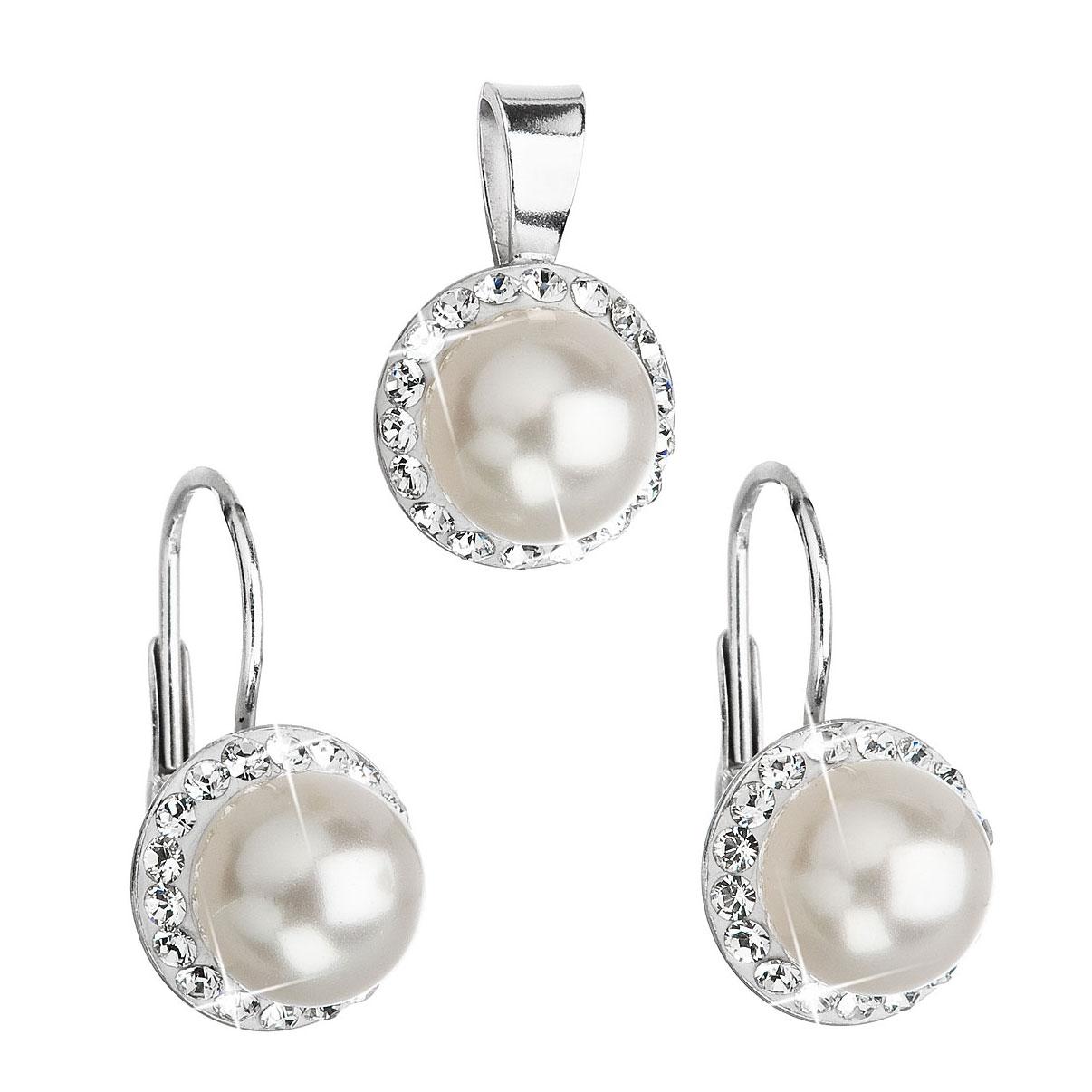 Sada šperků s perličkami Crystals from Swarovski® EG3036-WH