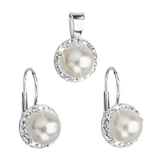 Sada šperků s perličkami Crystals from Swarovski®