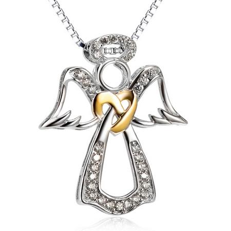 Strieborný náhrdelník anjelik