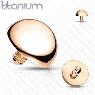 Náhradní půlkulička TITAN k labretě, závit 1,2 mm, rozměr 3 mm