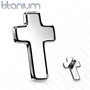 Náhradní křížek TITAN k labretě , závit 1,2 mm