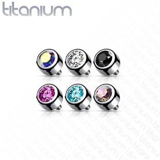 Náhradní kamínek k labretě TITAN, závit 1,2 mm, 3mm