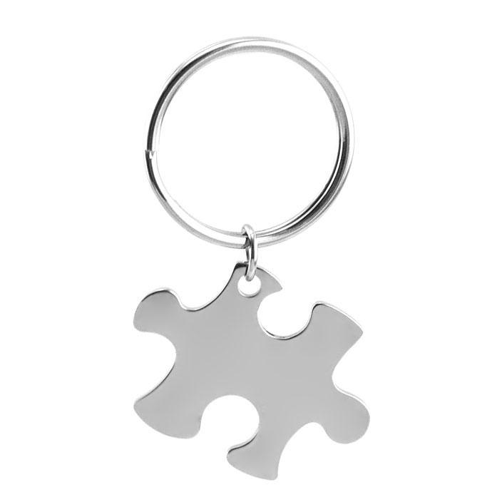 Ocelový přívěšek na klíče - puzzle