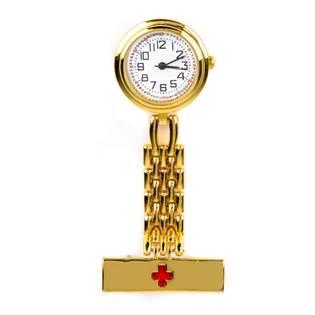 Zlacené připínací stříbrné hodinky pro zdravotníky