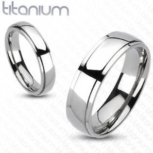 Dámský snubní prsten titan, šíře 4 mm, vel. 54,5
