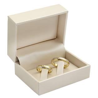 Dárková krabička na snubní prsteny, smetanová