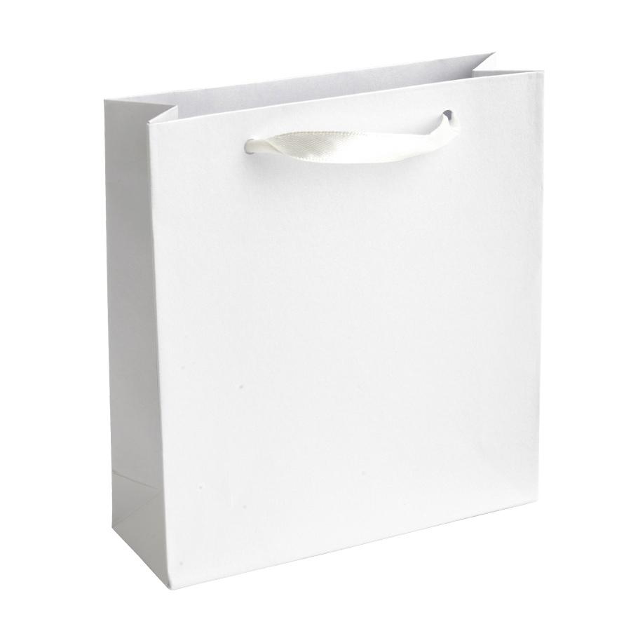 Dárková taška perleťově bílá