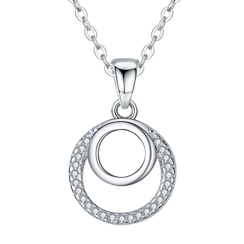 Stříbrný náhrdelník kolečka