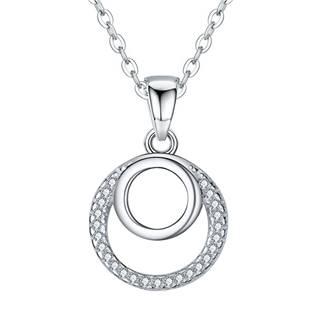 AL0078 Stříbrný náhrdelník kolečka