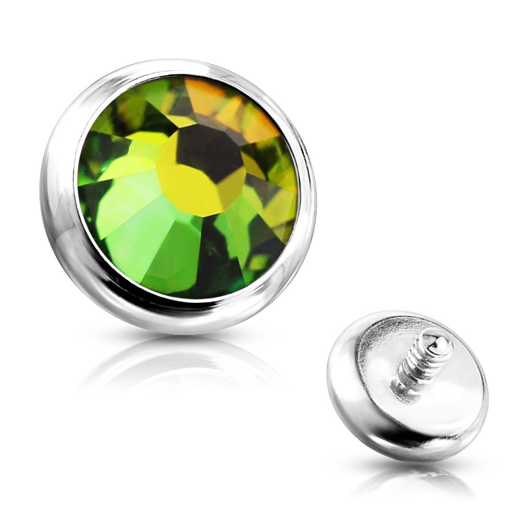 Ozdobný kamínek k mikrodermálu, průměr 5 mm, Vitrail Medium barva