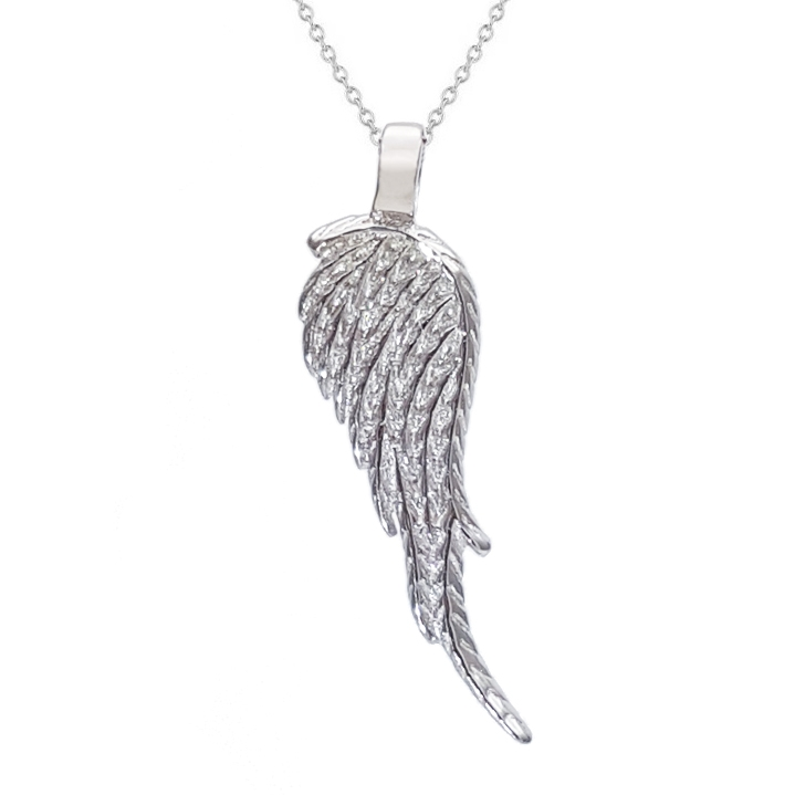 Stříbrný náhrdelník - andělské křídlo AL1008
