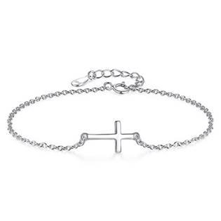 NB-1007 Dámský stříbrný náramek křížek