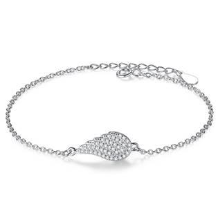 Dámský stříbrný náramek andělské křídlo