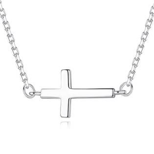 NB-2003 Stříbrný náhrdelník boční křížek