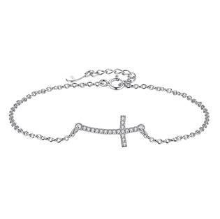 NB-1018 Dámský stříbrný náramek křížek