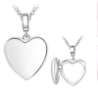 NB-2096 Stříbrný náhrdelník medailon srdce