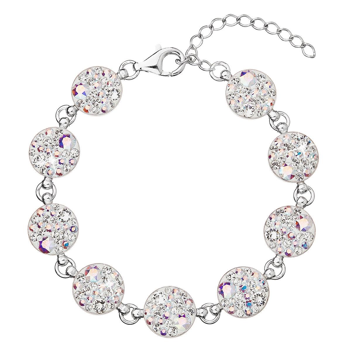 Stříbrný náramek s krystaly Crystals from Swarovski® AB EG7004-AB