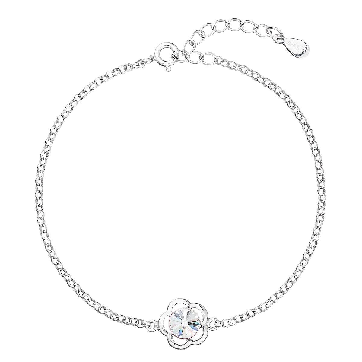 Stříbrný náramek s tyrkysovým kamenem Crystals from Swarovski® Crystal EG7057-CR