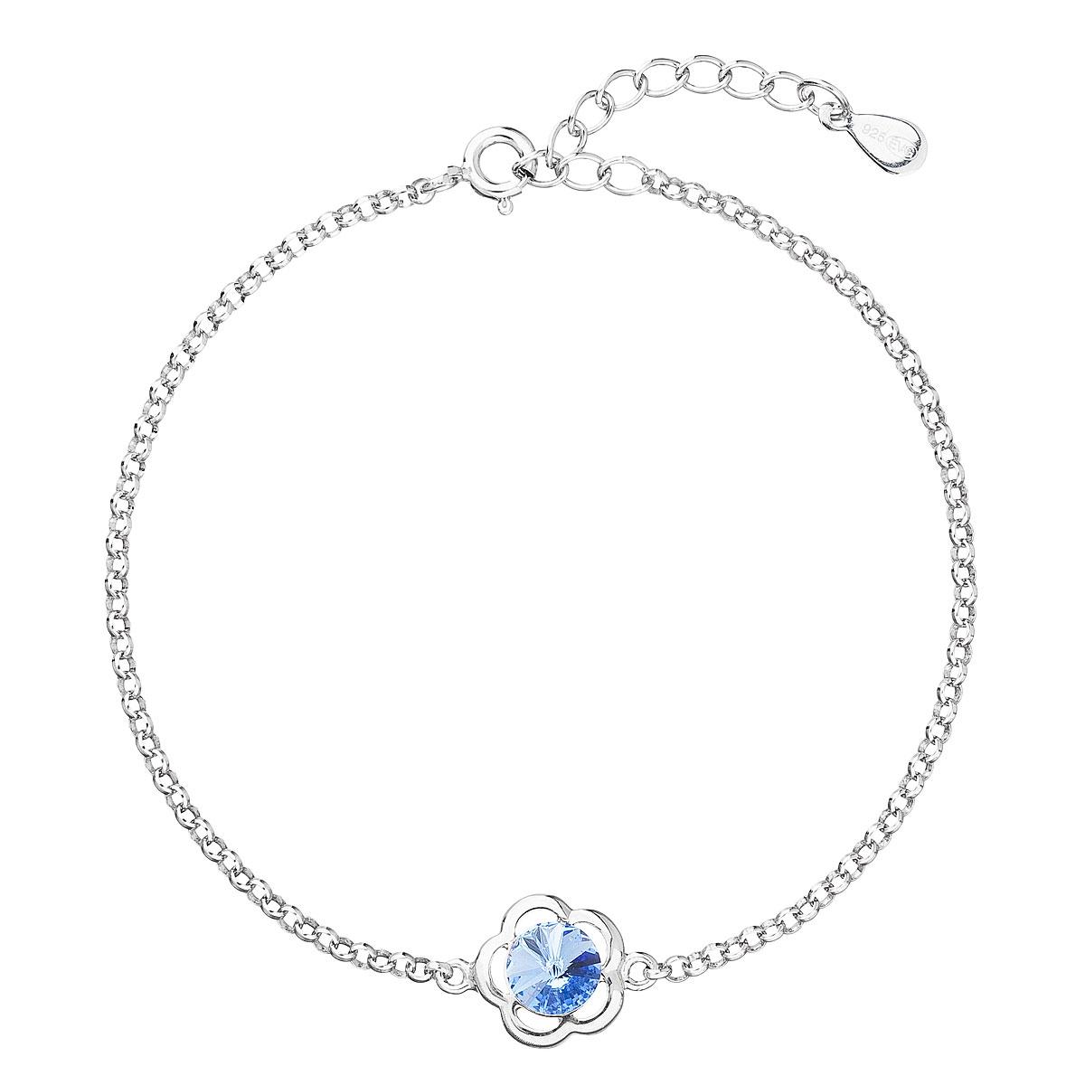 Stříbrný náramek s tyrkysovým kamenem Crystals from Swarovski® Aqua EG7057-AQ
