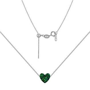 NBS03-OP19 Stříbrný náhrdelník srdce opál