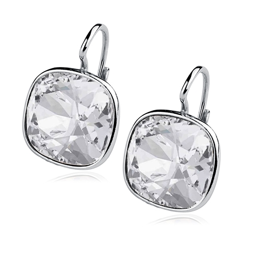 Stříbrné náušnice s kameny Crystals from Swarovski®, barva: CRYSTAL CS5641-CR