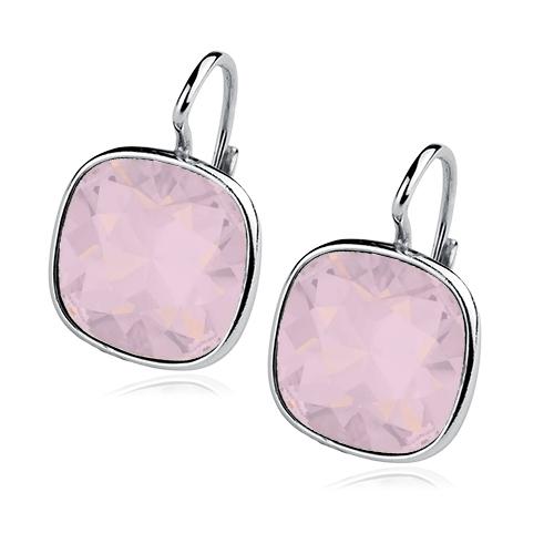 Stříbrné náušnice s kameny Crystals from Swarovski®, barva: ROSE WATER OPAL CS5641-RWO