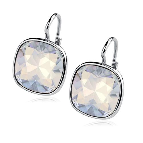 Stříbrné náušnice s kameny Crystals from Swarovski®, barva: WATER OPAL CS5641-WO