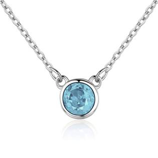 NB-2087-Q Stříbrný náhrdelník s kulatým tyrkysovým kamenem