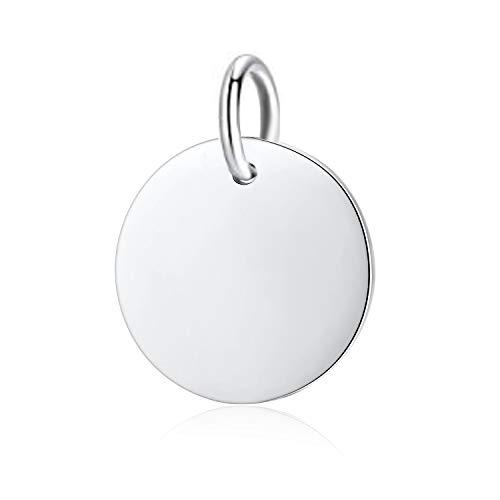 Stříbrný přívěšek destička kulatá