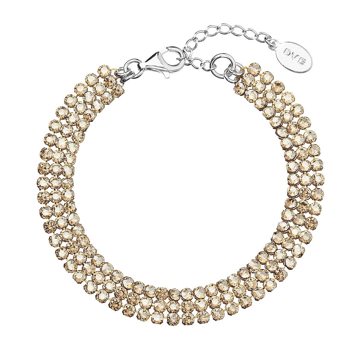 Stříbrný náramek s hnědými krystaly Crystals from Swarovski® EG7056-GD