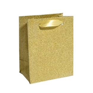Malá dárková taška zlatá