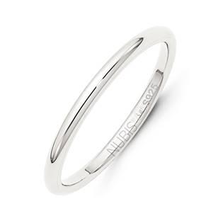 NB101 Stříbrný snubní prsten šíře 2 mm