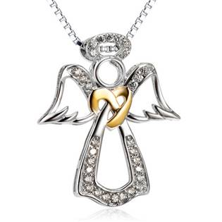 NB-2100 Stříbrný náhrdelník andílek