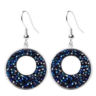 Náušnice VICTORY Crystals from Swarovski® BERMUDA BLUE