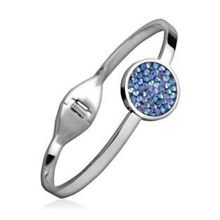 Ocelový náramek s krystaly Crystals from Swarovski® CRYSTAL BLUE SHIMMER