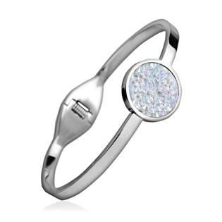 Ocelový náramek s krystaly Crystals from Swarovski® CRYSTAL SHIMMER