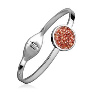 Ocelový náramek s krystaly Crystals from Swarovski® RED MAGMA