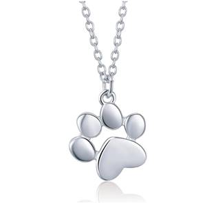 NB-2103-ST Stříbrný náhrdelník psí tlapička